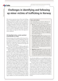Challenges in identifying and following up minor victims of trafficking in Norway