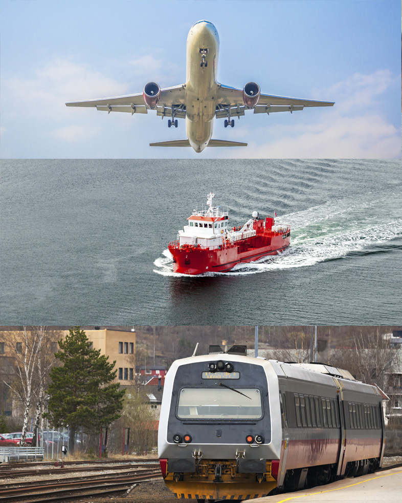How to inspect up in the air, at sea and on rails